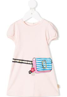 Little Marc Jacobs Vestido Com Estampa De Pochete - Rosa