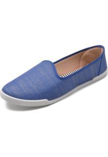 Slipper Moleca Fosco Azul