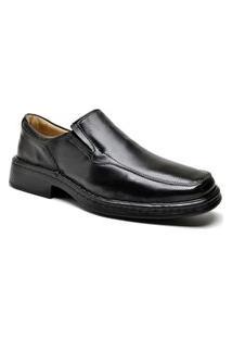 Sapato Social Ortopédico Masculino Couro Conforto Dia A Dia Preto 44 Preto