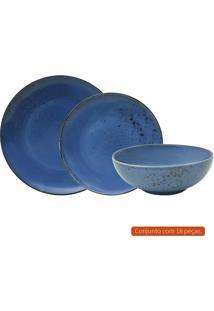 Aparelho De Jantar Com 18 Peças L Hermitage Iv Azul