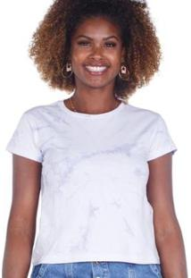 Camiseta Manga Curta Estampa Tie Dye Feminina - Feminino