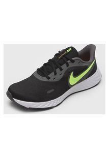 Tênis Nike Revolution 5 Preto/Verde