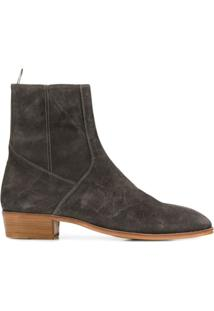Represent Zip-Up Ankle Boots - Cinza