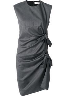 Victoria Victoria Beckham Vestido Com Detalhe De Nó - Grey