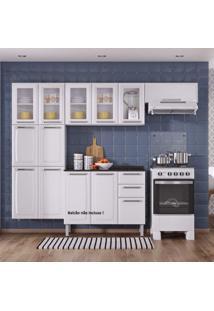 Cozinha Compacta 3 Peças Luce Itatiaia Com 5 Portas De Vidro Luce 2018 Itatiaia Branco
