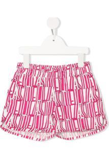 Stella Mccartney Kids Stella Type Print Shorts - Rosa