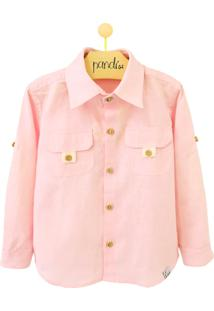 Camisa Pandi Gorgurão Rosa