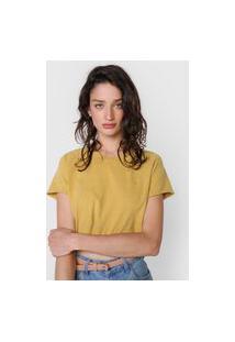Camiseta Cropped Volcom Solid Amarela