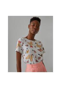 Amaro Feminino Camiseta Estampada Special, Magic Butterfly Off