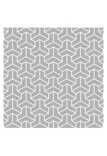 Papel De Parede Cinza Geométrico Moderno 57X270Cm