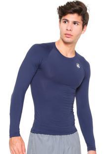 Camisa Esporte Legal Térmica Proteção Uv Azul Marinho