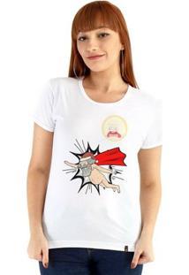 Baby Look Ouroboros Manga Curta Giant Santa Feminina - Feminino-Branco