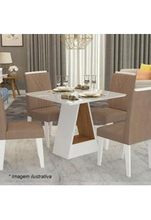 Conjunto De Mesa Alana E Cadeiras Nicole- Savana & Plumacimol