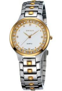 Relógio Weiqin Analógico Casual W4147G Dourado