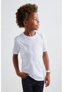 Camiseta Reserva Mini Print Estelar Masculina - Masculino-Branco