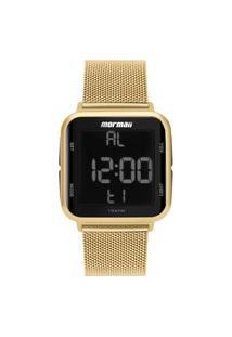 Relógio Mormaii Digital Luxo Dourado