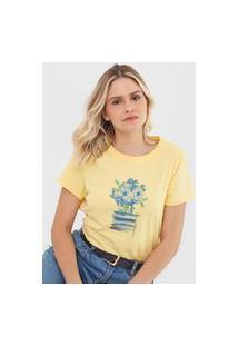 Camiseta Scene Floral Amarela