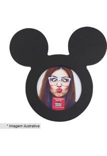 Porta Retrato Mickey Mouse® - Preto - 10X15Cm - Zona Criativa