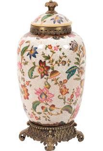 Vaso Decorativo De Porcelana Les Fleurs