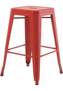 Banqueta Iron Medio Vermelho 61 Cm (Alt) - 43429 - Sun House