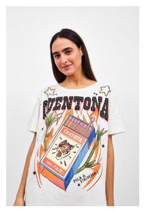 Camiseta Ampla Silk Quentona