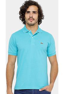 5df0a172e5 Camisa Polo Lacoste Piquet Original Fit Masculina - Masculino-Azul Turquesa
