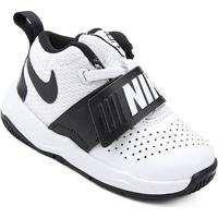 c28afea2d9a Tênis Infantil Couro Nike Team Hustle D Masculino - Masculino-Branco+Preto