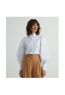Camisa Manga Longa Bufante Em Tricoline | Cortelle | Branco | Gg