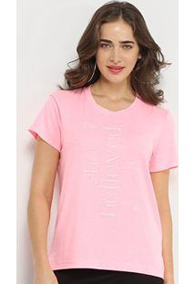 Camiseta Forum She Believied Feminina - Feminino-Rosa