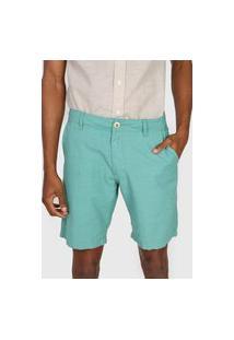 Bermuda Polo Wear Chino Bolsos Verde