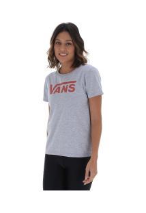 Camiseta Vans Flying V Crew - Feminina - Cinza