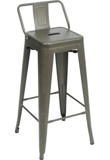 Banqueta Retrã´ Alta- Bronze- 94X42,5X37Cm- Or Deor Design