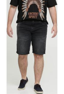 Bermuda Masculina Jeans Bolsos Plus Size Biotipo