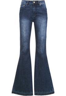 Amapô Calça Jeans 'Super Flare Lille' - Azul