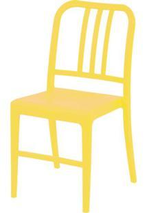 Cadeira Navy Polipropileno Amarela - 43094 - Sun House
