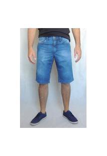 Bermuda Masculina Arbítrio Tradicional Azul Jeans