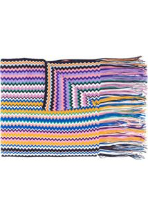 Missoni Cachecol De Lã Com Listras - Branco