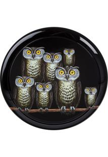 Fornasetti Bandeja Modelo 'Owl' - Preto