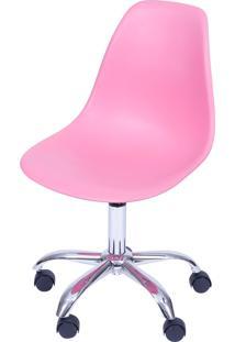 Cadeira Eames Dkr Rodízio Or Design Rosa