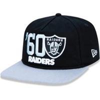 420346ba35f04 Boné 950 Original Fit Oakland Raiders Nfl Aba Reta Snapback New Era -  Masculino-Preto
