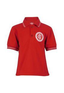 Camisa Inter Para Criança Nova De Time De Futebol Infantil Vermelha Licenciada Bordada Internacional Licenciado Original