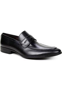 Sapato Social Couro Shoestock Lapela Masculino - Masculino-Preto