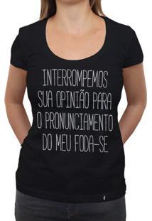 Interrompemos - Camiseta Clássica Feminina