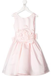 Piccola Ludo Vestido Com Detalhe De Flor - Rosa