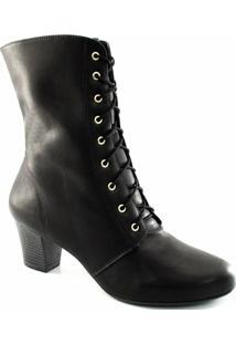 1a7b73c91 Bota Cano Médio Cadarço Numeração Grande Sapato Show - Feminino