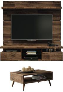 Painel Tv Livin 1.6 Com Mesa De Centro Lucy Deck - Hb Móveis