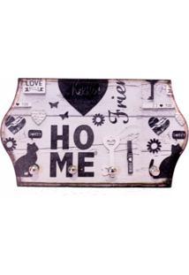 Porta Chaves Libby´S Home Cat Preto - Tricae