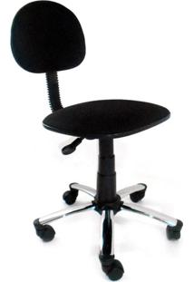 Cadeira De Escritório Secretária Giratória Direction I Cromada E Preto