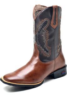 Bota Texana Fak Boots Cano Longo Bordado 2506 Whisky - Kanui