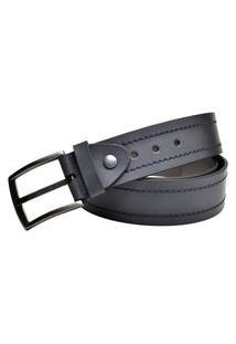 Cinto Esporte Casual Couro Carmelo Shoes Azul Marinho